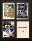 "MLB8""x10""Brandon Crawford San Francisco Giants Three Card Plaque"