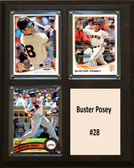 """MLB8""""x10""""Buster Posey San Francisco Giants Three Card Plaque"""
