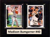 "MLB6""X8""Madison Bumgarner San Francisco Giants Two Card Plaque"
