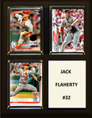 "MLB8""x10""Jack Flaherty St. Louis Cardinals Three Card Plaque"