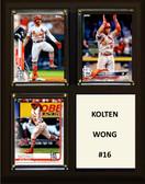 "MLB8""x10""Kolton Wong St. Louis Cardinals Three Card Plaque"