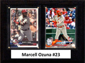 """MLB6""""x8""""Marcell Ozuna St. Louis Cardinals Two Card Plaque"""