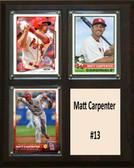 """MLB8""""x10""""Matt Carpenter St. Louis Cardinals Three Card Plaque"""