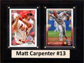 """MLB6""""X8""""Matt Carpenter St. Louis Cardinals Two Card Plaque"""