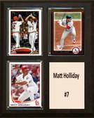 "MLB8""X10""Matt Holliday St. Louis Cardinals Three Card Plaque"