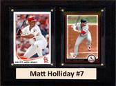 """MLB6""""X8""""Matt Holliday St. Louis Cardinals Two Card Plaque"""