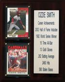 "MLB8""X10""Ozzie Smith St. Louis Cardinals Career Stat Plaque"