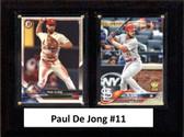"""MLB6""""x8""""Paul Dejong St. Louis Cardinals Two Card Plaque"""
