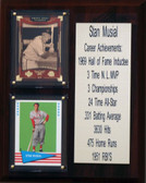 """MLB8""""X10""""Stan Musial St. Louis Cardinals Career Stat Plaque"""