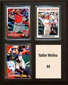 "MLB8""x10""Yadier Molina St. Louis Cardinals Three Card Plaque"