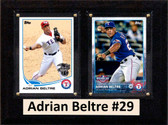 "MLB6""X8""Adrian Beltre Texas Rangers Two Card Plaque"