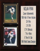 "MLB8""X10""Nolan Ryan Texas Rangers Career Stat Plaque"