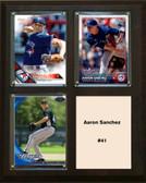 "MLB8""x10""Aaron Sanchez Toronto Blue Jays Three Card Plaque"