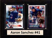 "MLB6""X8""Aaron Sanchez Toronto Blue Jays Two Card Plaque"