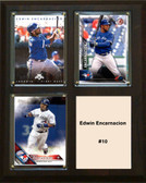 "MLB8""x10""Edwin Encarnacion Toronto Blue Jays Three Card Plaque"
