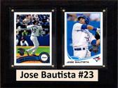 "MLB6""X8""Jose Bautista Toronto Blue Jays Two Card Plaque"