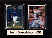 "MLB6""X8""Josh Donaldson Toronto Blue Jays Two Card Plaque"