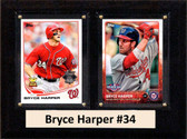 "MLB6""X8""Bryce Harper Washington Nationals Two Card Plaque"