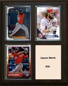 "MLB8""x10""Jason Werth Washington Nationals Three Card Plaque"