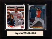 "MLB6""X8""Jason Werth Washington Nationals Two Card Plaque"