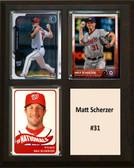 """MLB8""""X10""""Matt Scherzer Washington Nationals Three Card Plaque"""