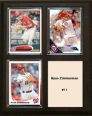 "MLB8""x10""Ryan Zimmerman Washington Nationals Three Card Plaque"