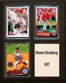 "MLB8""x10""Steven Strasburg Washington Nationals Three Card Plaque"