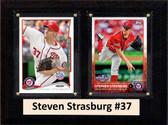 "MLB6""X8""Steven Strasburg Washington Nationals Two Card Plaque"