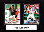 "MLB6""x8""Trea Turner Washington Nationals Two Card Plaque"