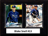 """MLB6""""x8""""Blake Snell Tampa Bay Rays Two Card Plaque"""
