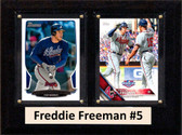 "MLB6""X8""Freddie Freeman Altanta Braves Two Card Plaque"