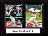 "MLB6""x8""Jose Ramirez Cleveland Indians Two Card Plaque"