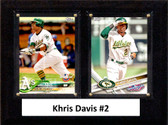 "MLB6""x8""Khris Davis Oakland Athletics Two Card Plaque"