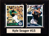 """MLB6""""X8""""Kyle Seager Seattle Mariners Two Card Plaque"""