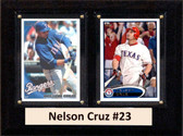 """MLB6""""X8""""Nelson Cruz Seattle Mariners Two Card Plaque"""