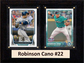 """MLB6""""X8""""Robinson Cano Seattle Mariners Two Card Plaque"""