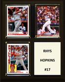 "MLB8""x10""Carlos Santana Cleveland Indians Three Card Plaque"