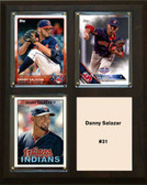 "MLB8""x10""Danny Salazar Cleveland Indians Three Card Plaque"