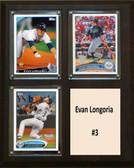 "MLB8""x10""Evan Longoria Tampa Bay Rays Three Card Plaque"
