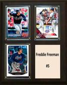 "MLB8""x10""Freddie Freeman Altanta Braves Three Card Plaque"