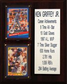 "MLB8""X10""Ken Griffey Jr. Seattle Mariners Career Stat Plaque"