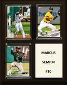 "MLB8""x10""Marcus Semien Oakland Athletics Three Card Plaque"