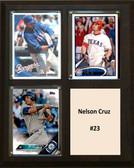 "MLB8""X10""Nelson Cruz Seattle Mariners Three Card Plaque"