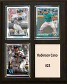 "MLB8""X10""Robinson Cano Seattle Mariners Three Card Plaque"