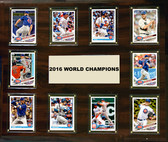 "MLB 15""x18"" Chicago Cubs 2016 World Series - 10-Card Plaque"