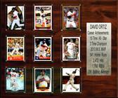 """MLB 15""""x18"""" David Ortiz Boston Red Sox Career Stat Plaque"""