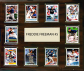 """MLB 15""""x18"""" Freddie Freeman Atlanta Braves Player Plaque"""