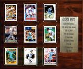 """MLB 15""""x18"""" George Brett Kansas City Royals Career Stat Plaque"""