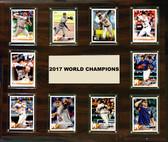 "MLB 15""x18"" Houston Astros 2017 World Series - 10-Card Plaque"