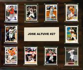 "MLB 15""x18"" Jose Altuve Houston Astros Player Plaque"